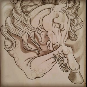 #Draw #Drawing #Horse #longtime #artwork #sketch #ombrage #flashtattoo