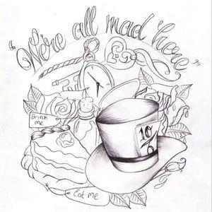 I love Alice in Wonderland #meagandreamtattoo