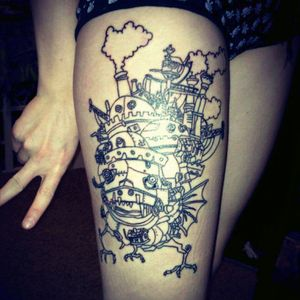 #Howls #moving #castle #howlsmovingcastle #howlsmovingcastletattoo #howlsmovingcastletattoos #studioghibli #studioghiblitattoo #HayaoMiyazaki #Miyazaki #linework #moscow Done by Thad Froio from Bitterroot Tattoo in Moscow Idaho