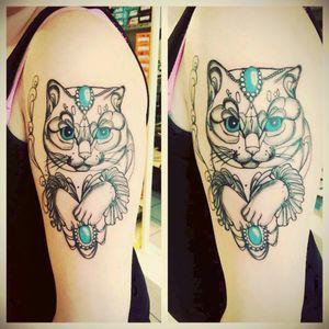 #cattattoo #tattoolove #inked #tattooazubi #mywork #kitten