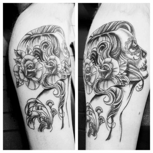 #lacatrina #mywork #tattoolove #inked