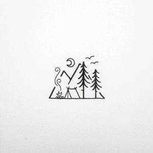 #mynexttattoo #wood #camping #illustrations #illustration