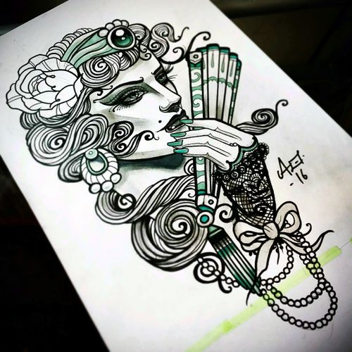 Another one available! #oldlines #uktta2016 #tattoodo #uktta #handtattoos #real_traditional #neotraditionaltattoo #neotrad #tattoosnob #neotrad #neotradsub #ntgallery #thenewtraditionalistseurope #tattooartistmagazine #liverpooltattooartist #liverpooltattoo #tattooliverpool #tattooworkers #tattoo_work #inkjunkies #the_best_tattoos_magazine #sketch #tattoodesign #neotradart #ladyheadtattoo #gypsyheadtattoo#killerink #eikon #fusioninktattoo