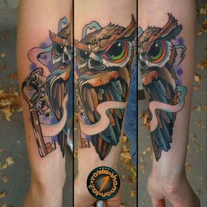 #customdesign #owl tattoo