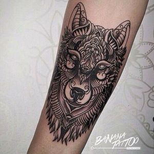 #black #ornamental #ornament #OrnamentalBlackWorkTattoo #blackandgrey #blackandgreyanimal #wolf #wolfface #details #fineart #fine #fineline #linework #tattoodo #dreamtattoo #pinsandneedles #art #animal #ajimalhead