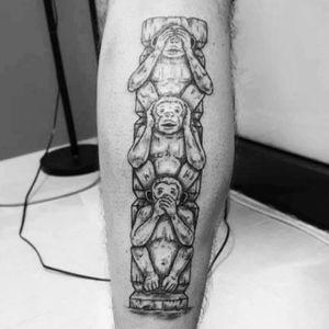 #threewisemonkeys #noevil #totem #monkey