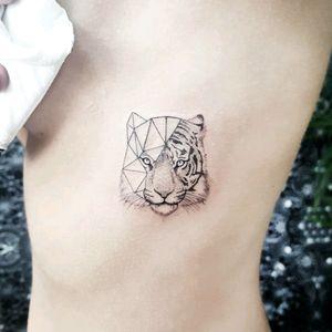 By #pablodiazgordoa #tiger #geometric #linework #blackwork