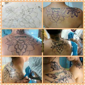 Do dia dela rsrs obrigada Leticia😉 #tattoofeminina #tracosfinos #delicada #tats #tatuaje #ornamental #mandala #TatuadoraBrasileira #robertamarela #robertanogueira #worktattoo
