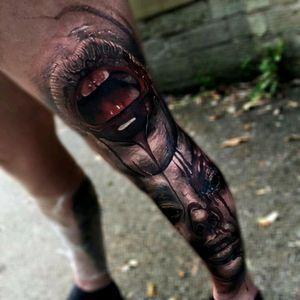 #3d #3Dart #FullLegSleeve #legsleeve #full_sleeve_tattoo #hyperealism #realism #realistic #undead #lipstattoo #lips #portait #tattoodo #horror #horrorart #horrormovie #dark_tattoo #dark #black #tattoo #dreamtattoo #art