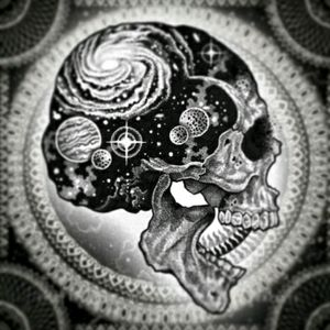 #Skull #Galaxy #Universe  #Outerspace  #Planets #Stars #Cosmos #Blackandgrey #Sketch @theneonmystic #NeonMystic