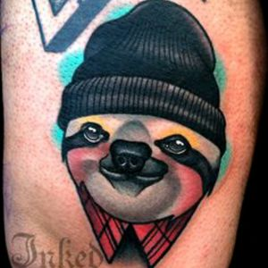 A sloth is my #MEGANDREAMATTOO