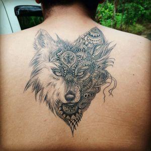#Wolf #Wolfhead #Dreamtatto #Simetria #Blackwolf #Lobo
