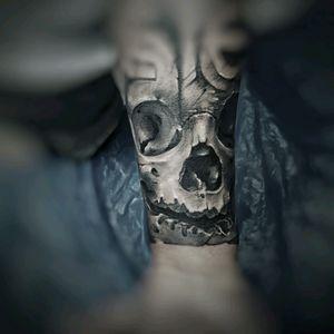 My skull tattoo #realistic #skulltattoo #blackandwhite #ink4life  #tattoos_of_instagram  #tattooedarm