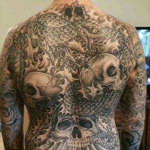 #bodysuit, #snake&skulls, #inkaddict