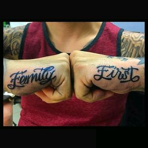 #lettering,#familyfirst, #black&grey, #doublefisted