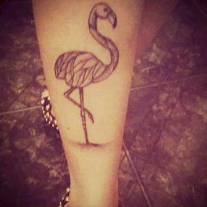#flamingotattoo #delicatetattoo #Animal #Pontilhismo