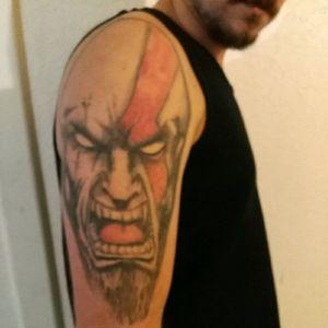 Beginning of a full god of war sleeve #kratos #godofwar