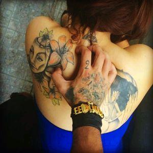 #blue #leather  #masktattoo