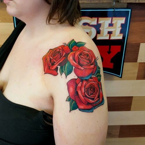 #newschool #roses #rose #shoulder