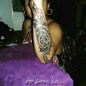 #TattooCoverup #TattooFlower #ACAHUALINKTATTOOSHOP505 #MrGaray505 #AmoelArtedelTatuaje