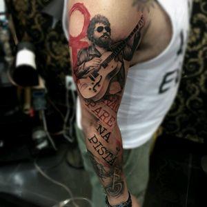 Raul Seixas - Não Pare Na Pista. Sociedade alternativa. Tatuador: Rauni Durães.
