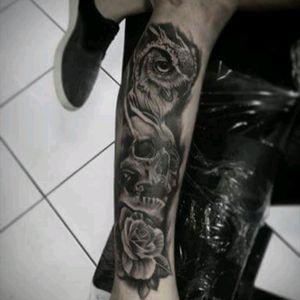 #tattooskull #olw #tattooflower #tattooecuador #tattoo