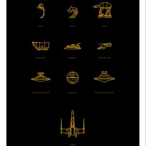 Love these Star Wars line art drawings. Definitely considering an AT-AT or X-wing tattoo