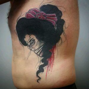 Namakubi on ribs #namakubi #severedheadtattoo #tattoo #severedhead #ribtattoo