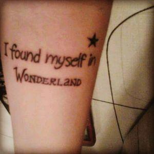 #Quote #aliceinthewonderlandtattoo #tattoo #Ink #AliceUnderground #Song #AvrilLavigne #welove