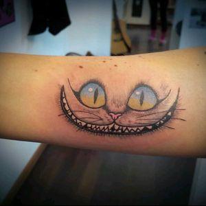 ❤ Alice Cat ... 😊 #wonderlandtattoostudio #aliceinewonderland #cattattoo #wonderland #tattooart