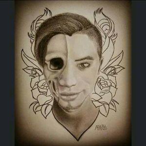 Selfportrait #amaru #suyanatattoo #realism #tattoo #design #selfportrait #skull #megandreamtattoo