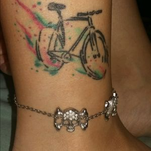Colored bicycle