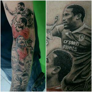 Part of LFC sleeve in progress #lfc #liverpoolfootballclub ##ink #inked #tattoo #tattoos #realism #liverpool #football #soccerplayer