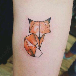 #geometric #geometrictattoo #watercolor #fox #foxtattoo