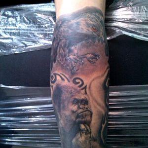 Magia salvaje. Proceso de cobertura#theconquerinklion #tattoo  #colombiaink #cobertura