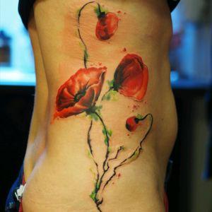 #poppy #colorwork #side #tattoo_artist #tattoo_artwork #tattoo_artwork