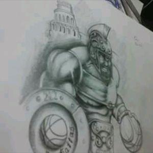 #design #tattoodesign #tattoodesigner #draw #tatuadorargentino #tattoosbyleo #lean_tattooargentina #gladiator #blackangrey