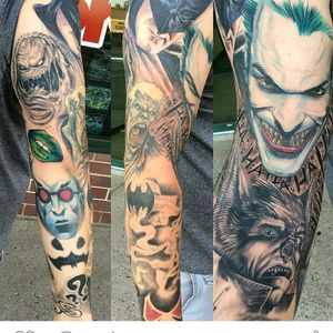 #Batman#sleeve#tattoo#villains#joker