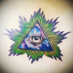 #Illuminati #Watercolor #Universe #FirstTattoo #LaPaz #Bolivia #BolivianArtists #StigmaTattoo #BolivianTattoos