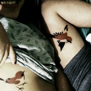 #sparrow #coupletattoos #brasil #brazil #couple