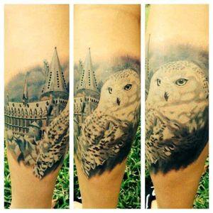 #Harry #harrypotter #hedwig #fantacytattoo #hogwarts #bird #nature #owl