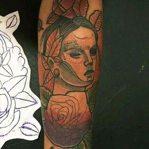 Woman Rose #neotraditattoo #neotraditional #tattooink #tattooBrasil #eletricink #neotrad #childhtattooink