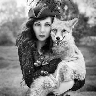 #fox #lady #cute