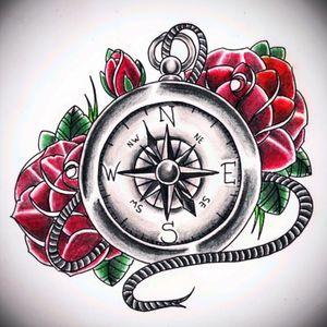 #rose#brujula #EmpireTatoo