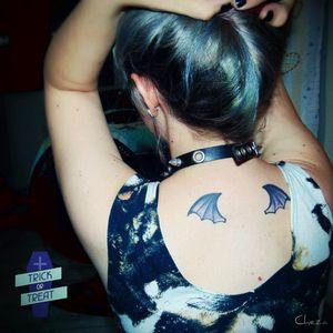 My name is Amanda Cheza!  Bat wings tattoo ♡ #gothic #bat #vampire