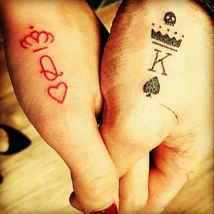 Simple but pretty #ink #couplestattoo #kingandqueen