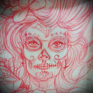 #sketchaday #dayofthedead #skull #tattoo_art_worldwide
