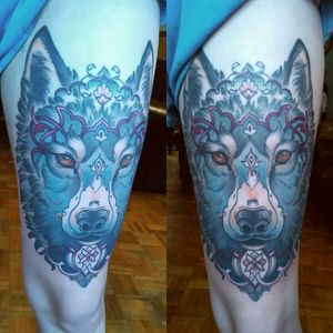 #neotraditional #neotrad #neotradgallery #wolftattoo #neotraditionalwolf #wolf