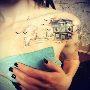 Tattoo time 👹💚 #tattooedbabes #tattoo #tattoos #halloween #sexy #scenegirl #scenequeen #emogirl #emo