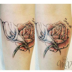 Inés M. #roses #rosa #lirio #ines